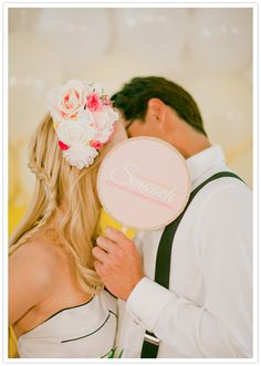 smooch paper sign + Michelle March Photography