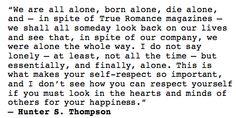 quotes, hunter s thompson,