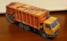 Garbage Truck on Kamaz Chassis Free Paper Model Download…