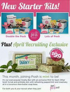 April 2015 starter kits!! Sign up today!! www.perfectlyposh.com/christyfleenor