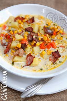 Zimowa zupa kukurydziana z boczkiem