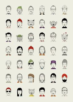 Wes Anderson Illustrations