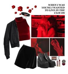 """red red red"" by pixiekid ❤ liked on Polyvore featuring Madewell, Erdem, UNIF, Urban Decay, NARS Cosmetics, Kre-at Beauty and Again"