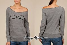 Infinity Love - Women Eco Fleece Sweatshirt -  Grey