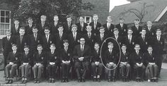 Loyal: Rickman, circled in this photograph, always retained his affection for his old school and frequently returned to speak there