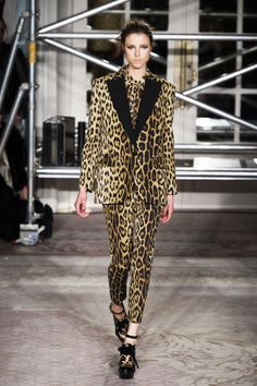 Leopard print suit, Moschino Cheap & Chic.