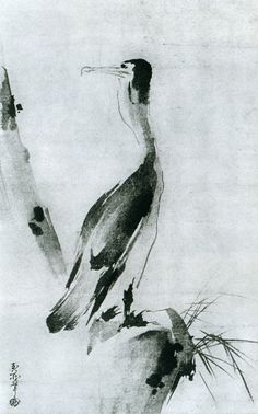 Cormorant by Musashi MIYAMOTO - a 17th century Japanese painter and swordsman of great fame.