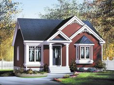 Cottage House Plan with 896 Square Feet and 2 Bedrooms from Dream Home Source | House Plan Code DHSW077991