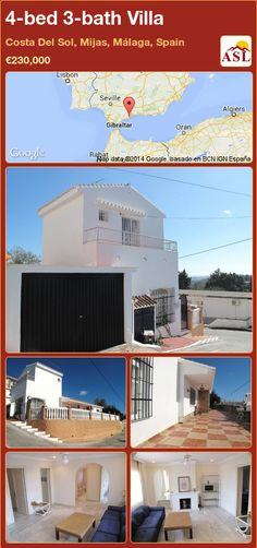 4-bed 3-bath Villa in Costa Del Sol, Mijas, Málaga, Spain ►€230,000 #PropertyForSaleInSpain