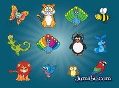 Animales Dibujados en Vectores | Jumabu! Design Tools - Vectorizados - Iconos - Vectores - Texturas