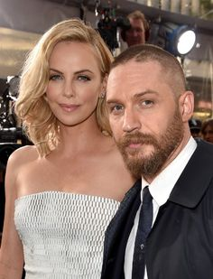 Charlize Theron and Tom Hardy at event of Mad Max: Fury Road (2015)