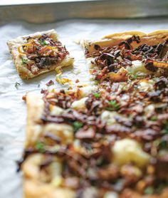 This onion thyme tart is a simple, easy vegetarian dish made with just five ingredients.