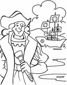 Resultado de imagen de columbus day coloring pages
