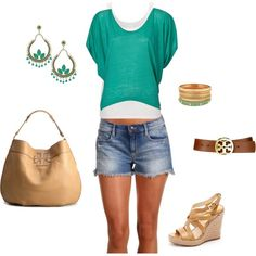 Did you know that green is considered a neutral color? Love the earthy combination of these products together. Casual summer fun that doesn't forget to be fashionable.  created by me, jeanniev