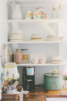 .Create this collected look with treasures you can find on the shelves of your local Goodwill...