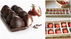 Congelez des fraises enrobées de chocolat, et régalez-vous !