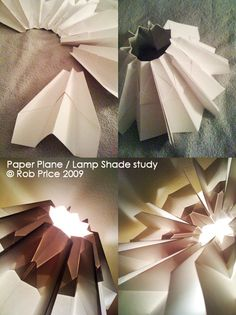 DIY: Lamp Shade of Paper Planes  I love the idea of reinventing childhood memories as everyday objects.  This is a new theme in my design that I will continue to explore.