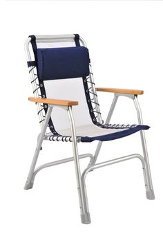 Mingu0027s Mark 32020 White Mesh Marine Captain Chair With Blue Border Mingu0027s  Mark Http:/