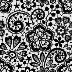 dentelle dessin: Black Lace Seamless