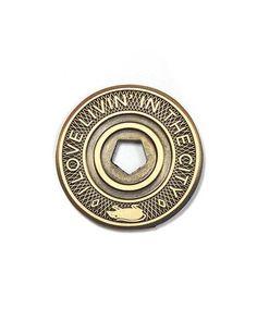 Gold Finish Metal Drama Theatre Pin TIE TACK School Varsity Chenille Insignia