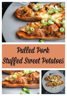 Get stuffed - upcycle pulled pork into these tasty and satisfying sweet potatoes. t