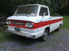 Isn't she so unique?!  My anniversary present from my husband..a total surprise! 1963 Chevy Corvair Rampside.
