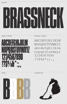 Brassneck Brewery by Post Projects , via Behance