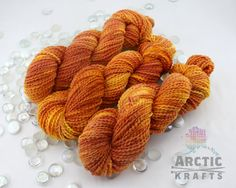 Camp Fire hand dyed chunky weight thick and thin by Arctickrafts                                                                                                                                                                                 More