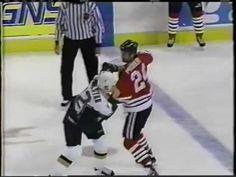 Bob Probert vs Mel Angelstad #nhl #blackhawks