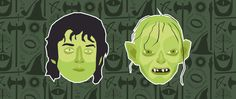 Lord of the Rings - Frodo & Gollum #middleearth #gollum #frodo #lordoftherings #ring #tolkien #jrrtolkien #peterjackson #elijahwood #hobbit #smeagol #pattern #portrait #illustration #lowvector #lowpolygon #green #illustrator #creative #inspiration #graphicdesign #graphic #design #graphicagency #webagency #mordor #colors #lyon #kuki #somebuddies