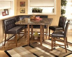 Counter Height Dining Table Set Booth Style Seats  Donna's Table Prepossessing Pub Height Dining Room Table Review