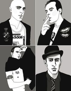 Cool dude illustrations by Liselotte Watkins for Squint Magazine