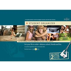 Student Organizer Wall Calendar: Fabulous for all students! High School, College and University students love this extraordinary student organizer because it is big enough for their busy and exciting lives and it helps organize and motivate them.  $15.99  http://www.calendars.com/School-Organizer/Student-Organizer-2013-Deluxe-Wall-Calendar/prod201300006160/?categoryId=cat580008=cat580008#