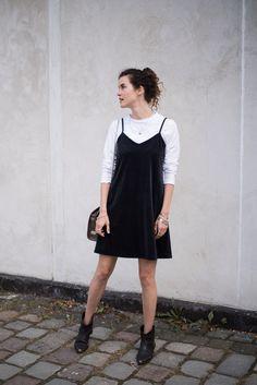 how to wear a slip dress in autumn: Fair Fashion inspiration