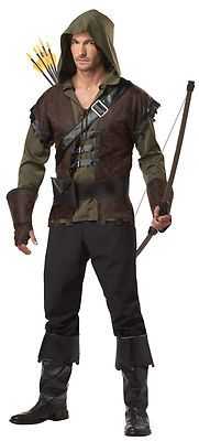 Mens X-Large 44-46 Robin Hood Adult Costume - Medieval and Renaissance Costumes