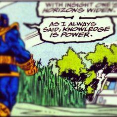 Thanos PSA  #parlorstreet #psa #thanos #marvel #comics #marvelcomics #infinitywar #peace #contemplation #comics #knowledgeispower #keysopendoors #success