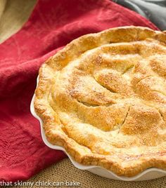 A delectable Classic Apple Pie recipe from Hugs & Cookies http://thatskinnychickcanbake.com