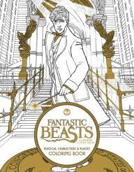 Fantastic Beasts And Where To Find Them Magical Characters Places Coloring Book
