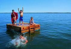 Build a Swim Raft! http://cdn.cottagelife.com.s3.amazonaws.com/files/2011/05/Swim-Raft-Plan.pdf