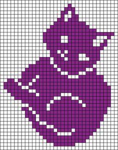 Alpha friendship bracelet pattern added by neopets. Filet Crochet Charts, Knitting Charts, Knitting Stitches, Knitting Patterns, Crochet Patterns, Cross Stitching, Cross Stitch Embroidery, Cross Stitch Patterns, Chat Crochet