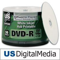 USDM Supreme DVD-R Photo Finish W/ Smudge Guard White Inkjet Hub Print by US Digital Media. $7.99. USDM Supreme White Inkjet Hub Printable DVD-R Media with Smudge Guard features a specialized printing surface that allows extremely fast drying time and is completely water and smudge proof. videoR, 26; Description USDM is proud to announce a great addition to our Supreme line of media, USDM Photo Finish with SmudgeGuard DVDR. With its fantastic photo quality glossy finish, it loo...