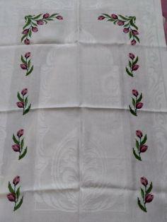 Decorative Towels, Cross Stitch Designs, Dots