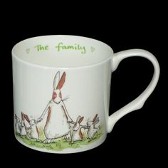 NLM1 The Family - Large Two Bad Mice  Breakfast Mug decorated with images by Anita Jeram   Fine Bone China   Boxed RRP £14.50