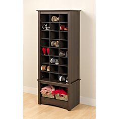 @Overstock - Who says shoe storage can't be stylish too? Prepac's Tall Shoe Cubbie Cabinet is the perfect addition to any foyer, mudroom, entryway or even bedroom.http://www.overstock.com/Home-Garden/Espresso-Tall-Shoe-Cubbie-Cabinet/6813676/product.html?CID=214117 $225.99