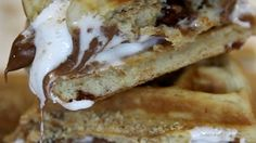 How To Make Waffle Smores: Learn how to make this delicious combination of waffles and smores