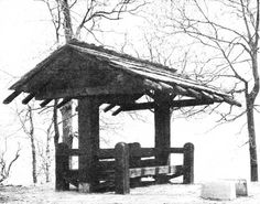 National Park sturctures   Sheltered Seat, Pere Marquette State Park, Illinois