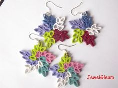 Paper Quilled Star Earring Tutorial