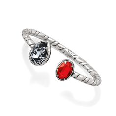 Red is having a moment! Use the hue in this Graceful Hinged Bangle with a highlighting silver night shade. #BRIGHTONJEWELRY #YOURTRUECOLOR