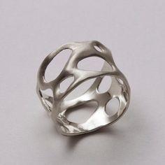 Bio A Sterling Silver Ring Unisex ring wedding by doronmerav, $95.00