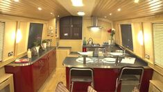 Live aboard Barge Interior | Mirfield Boat Company - Live Aboard Narrow and…